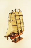 Model Ship ,Clipper,Barque white background Stock Photos