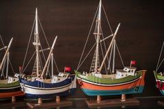 Model Ships at a Gift Shop. From Karadeniz region of Turkey Stock Images