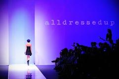 Model showcasing designs from Alldressedup at Audi Fashion Festival 2011 Royalty Free Stock Photos