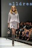 Model showcasing designs from Alldressedup at Audi Fashion Festival 2012 Royalty Free Stock Photos