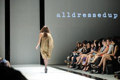 Model showcasing designs from Alldressedup at Audi Fashion Festival 2012 Royalty Free Stock Image