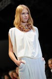 Model showcasing designs from Alldressedup at Audi Fashion Festival 2012 Stock Image
