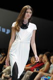 Model showcasing designs from Alldressedup at Audi Fashion Festival 2012 Stock Photo
