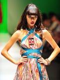 Model showcasing designs from Alldressedup at Audi Fashion Festival 2011 Stock Image
