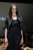 Model showcasing designs from Alldressedup at Audi Fashion Festival 2012 Stock Image