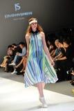 Model showcasing designs from Jonathan Simkhai from New York at Audi Fashion Festival 2012 Royalty Free Stock Photo