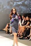 Model showcasing designs by Juma from Toronto at Audi Fashion Festival 2012 Stock Photos