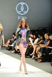 Model showcasing designs by Juma from Toronto at Audi Fashion Festival 2012 Stock Photography