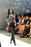 Model showcasing designs by Juma from Toronto at Audi Fashion Festival 2012 Stock Image