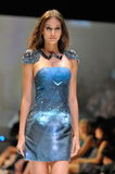 Model showcasing designs from Swarovski with the theme Kingdom of Jewels at Audi Fashion Festival 2012 Stock Photo
