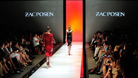 Model showcasing designs from Zac Posen at Audi Fashion Festival 2012 Stock Images