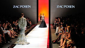 Model showcasing designs from Zac Posen at Audi Fashion Festival 2012 Stock Photography