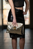 Model Showing Fancy Bag Royalty Free Stock Image