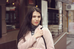 Model shows autumn clothes Stock Images
