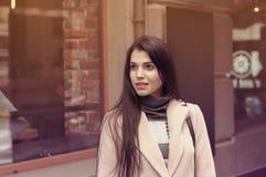 Model shows autumn clothes Stock Photos