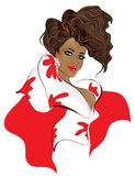 model silhouette för afrikansk amerikan Royaltyfri Fotografi