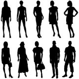 Model Silhouettes Stock Photography