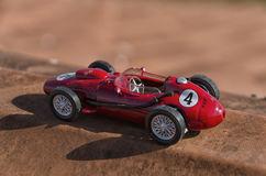 Model of a single-seater. View of a model of a single-seater stock photo