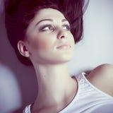 model sinnlig kvinna Arkivfoto