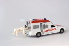 Model skeleton in ambulance Stock Image