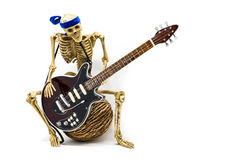 Model skeleton playing electric guitar Stock Photo