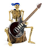 Model skeleton playing electric guitar royalty free stock image