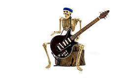 Model skeleton playing electric guitar Royalty Free Stock Photos