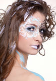 Model with skew bodyart Royalty Free Stock Images
