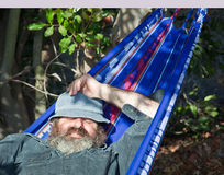 Model Sleeping In A Hammock Royalty Free Stock Photos