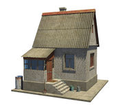 The model of a small country house in Russia. Model of a small zagrodny lodge Stock Image