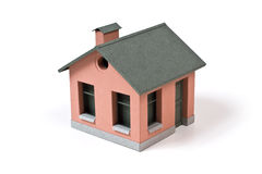 Model Of The Small Hous. The Composition Which Manually Has Been Cut Out  From A