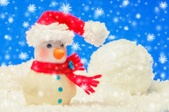Model snowman Royalty Free Stock Photo