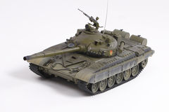 Model of the Soviet battle tank Royalty Free Stock Photos