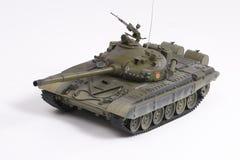 Model of the Soviet battle tank. Miniature model of the Soviet battle tank Royalty Free Stock Photos