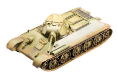 Model of soviet old T-34 tank Royalty Free Stock Photography