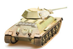 Model of soviet old T-34 tank Stock Photo
