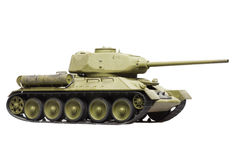 Model of soviet tank. Model of old soviet tank isolated on white background Royalty Free Stock Image