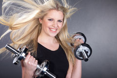 Model with a sport trade Stock Photography