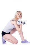 Model with a sport trade Stock Images