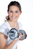 Model with a sport trade Royalty Free Stock Photo