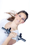 Model with a sport trade Royalty Free Stock Photography