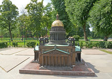 The model of St. Isaac's Cathedral in St. Petersburg Stock Image