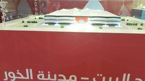 Model stadium dla piłki nożnej puchar świata 2022 zbiory