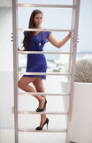 Model on the stairs Stock Photography