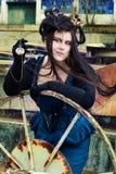 model steampunk Arkivbilder