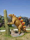 Model of Stegosaurus dinosaur Stock Photos
