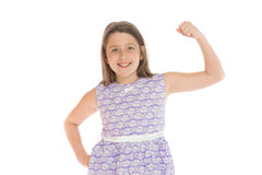 Model strength arm curl Royalty Free Stock Photo
