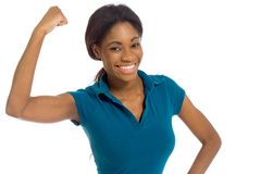 Model strength arm curl Stock Image