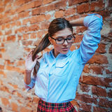 Model student poses for photographers.Art processing and retouch Stock Images