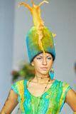 Model on a Student's fashion parade royalty free stock photos
